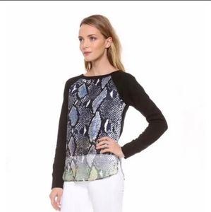 Diane Von Furstenburg Lisha Python Sweater Sz S